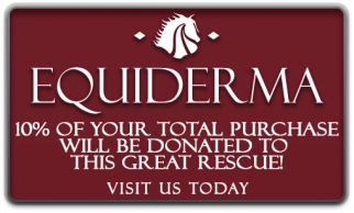 Order your equine or canine grooming and skin products from Equiderma and they will donate 10% of your purchase total to Maryland Horse Rescue. Just click here.